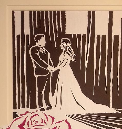 Paper (First) Wedding Anniversary (Papercut) by Lois - Use the 'Create Similar' button to commission an artist to create your own artwork.