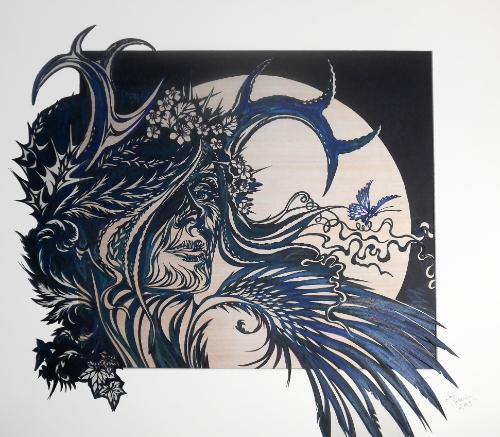 Artwork Freya (scalpel papercut)