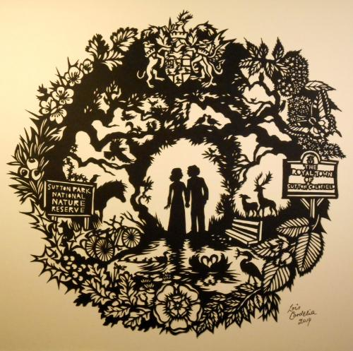Artwork Memories of Sutton Park (papercut)