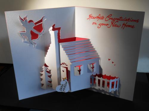 Artwork Personalised Housewarming Gift Card (3D Papercut)