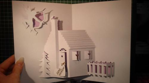 Personalised Housewarming Gift Card (3D Papercut) by Lois - Use the 'Create Similar' button to commission an artist to create your own artwork.