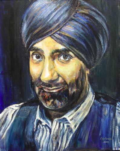 Artwork Portrait of a Sikh Gentleman