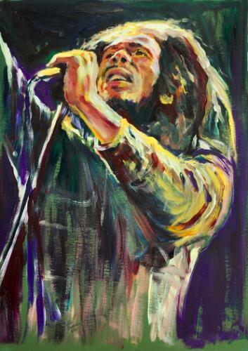 Artwork Bob Marley Live