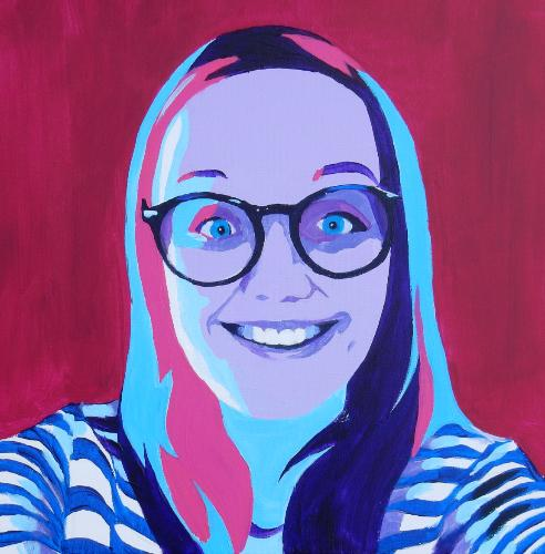 Pop Art Portrait by Lois - Use the 'Create Similar' button to commission an artist to create your own artwork.