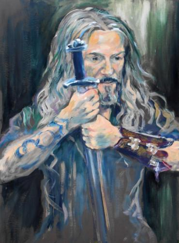 Artwork Jason, 90 min portrait from life with Viking Sword