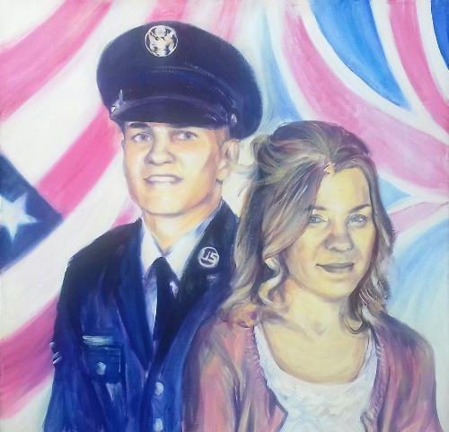 Artwork Double commemorative portrait commission