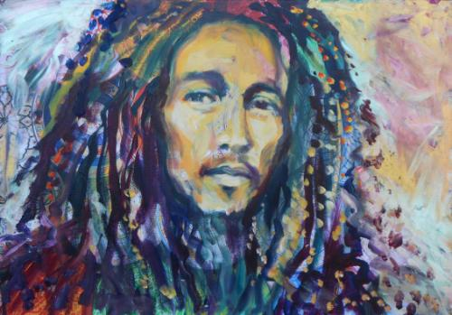 Artwork Bob Marley portrait