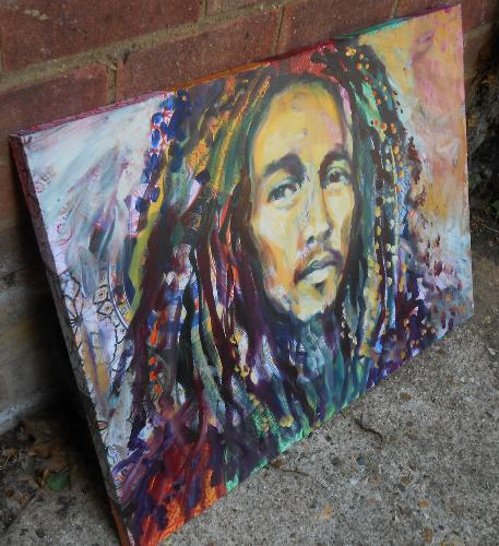 Bob Marley portrait by Lois - Use the 'Create Similar' button to commission an artist to create your own artwork.