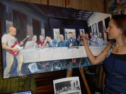 Tom's Last Supper by Lois - Use the 'Create Similar' button to commission an artist to create your own artwork.