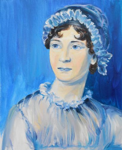 Artwork Portrait of Jane Austen (90 min speed-painting)