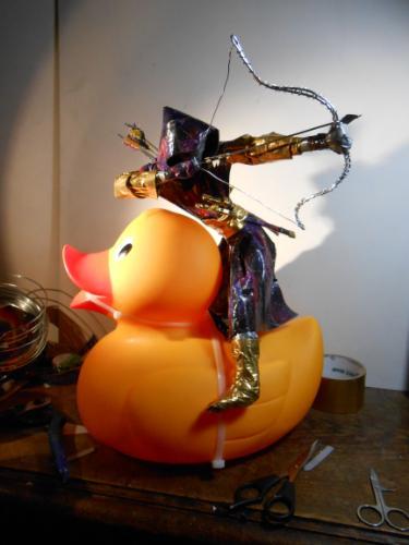 Artwork Assassin Duck (Duck Tape sculpture)