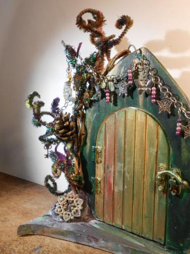 Fairy Door (mixed media sculpture) by Lois - Use the 'Create Similar' button to commission an artist to create your own artwork.