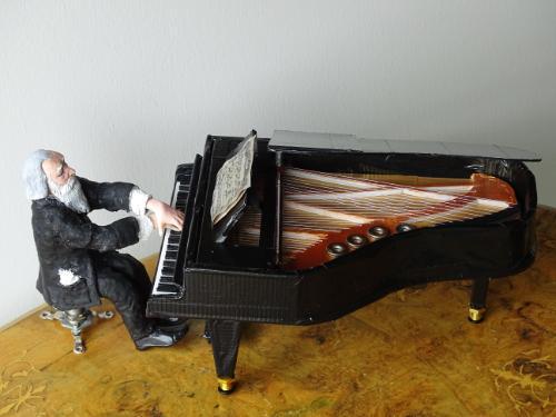 Artwork Johannes Brahms (mixed media) miniature