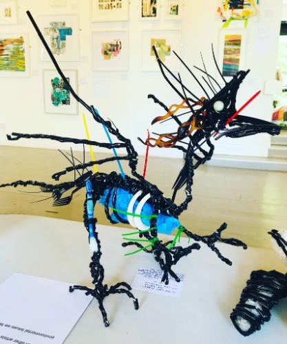 Artwork Dragon sculpture made of Recycled Plastic