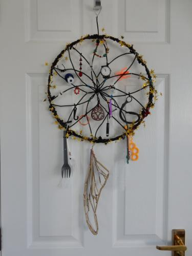 Artwork Dreamcatcher made of recycled plastic