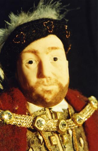 Henry VIII Miniature Figurine by Lois - Use the 'Create Similar' button to commission an artist to create your own artwork.