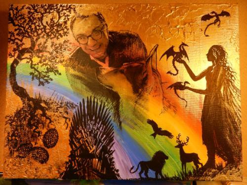 Artwork Khaleesi Game of Thrones inspired portrait