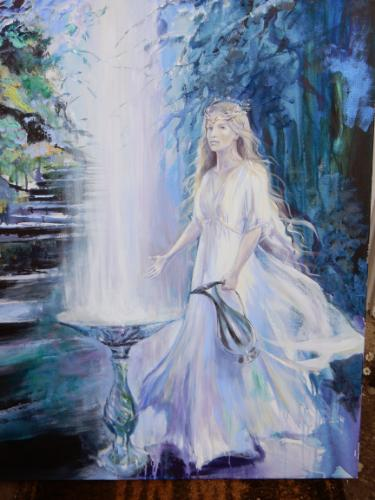 Galadriel (Lord of the Rings, JRR Tolkien) by Lois - Use the 'Create Similar' button to commission an artist to create your own artwork.