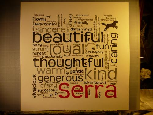 Wordle (personalised birthday gift) by Lois - Use the 'Create Similar' button to commission an artist to create your own artwork.