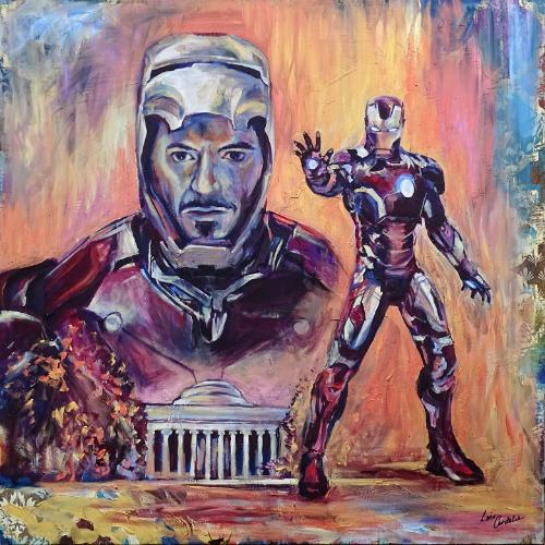 Artwork Iron Man and Boston MIT