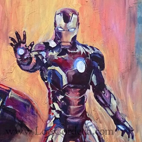 Iron Man and Boston MIT by Lois - Use the 'Create Similar' button to commission an artist to create your own artwork.
