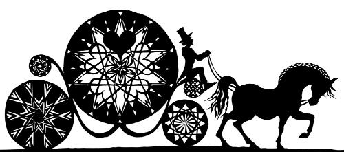 Artwork Fairytale Carriage Silhouette