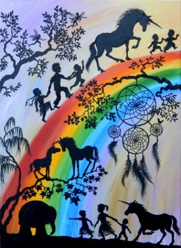 Artwork Unicorns and Rainbows