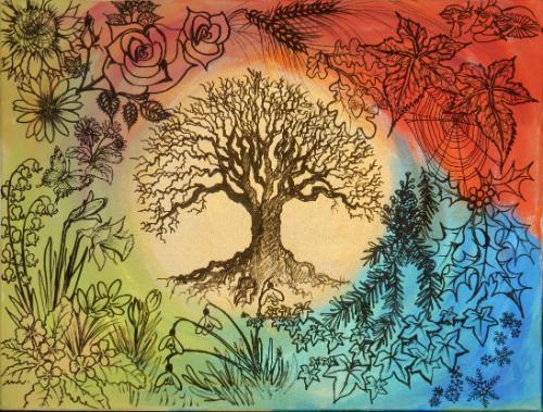 Artwork Tree of Life - Four Seasons