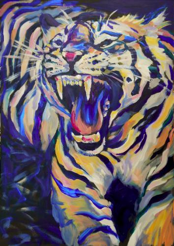 Artwork Roaring Tiger