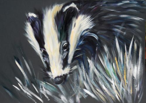 Artwork Badger (Meles meles)