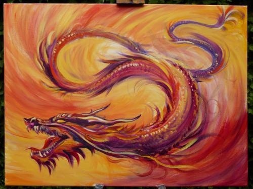 Artwork Dark Red Dragon
