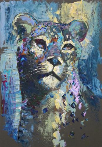 Artwork Jaguar (palette knife)