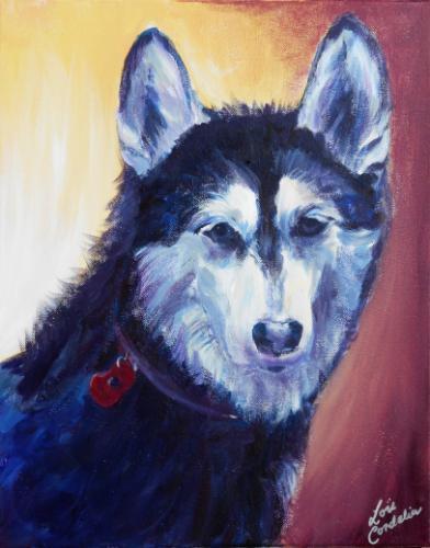 Artwork Husky Portrait