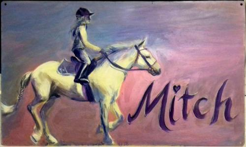 Artwork Mitch (Personalised Horse Stable Name Plaque)