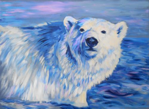 Artwork Polar Bear Portrait