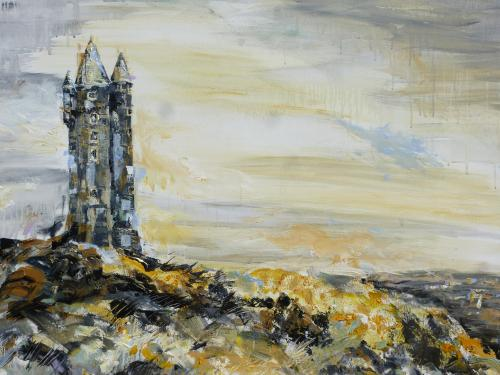 Scrabo Tower by Lois - Use the 'Create Similar' button to commission an artist to create your own artwork.