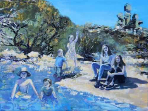 Artwork Matopos Landscape with 6 Children
