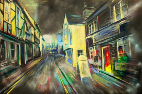 Trinity Street, Colchester by Lois - Use the 'Create Similar' button to commission an artist to create your own artwork.