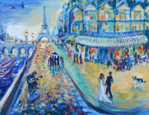 Artwork Paris Memories (Gold Wedding Commission)