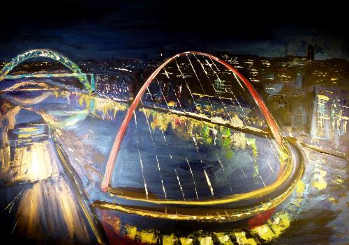 Artwork Newcastle by night