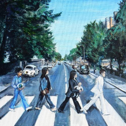 Artwork Abbey Rd Beatles - Personalised