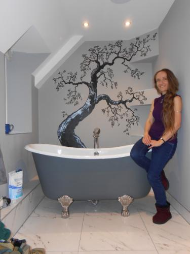 Artwork Bathroom Tree Mural