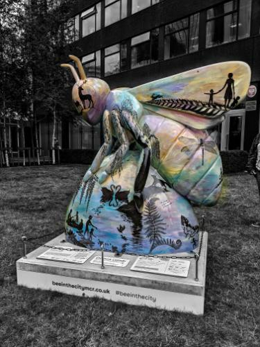 Artwork BeeYOUtiful for Manchester public art trail