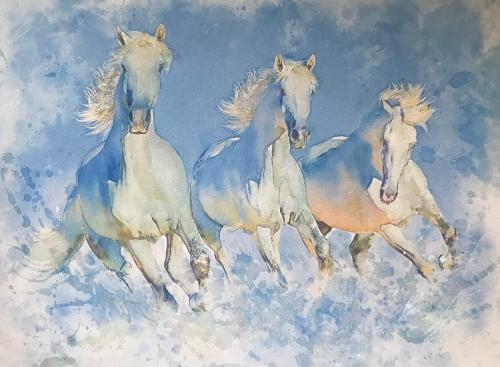 Artwork White Horses
