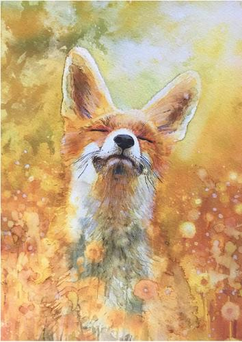 Artwork Fox in a field