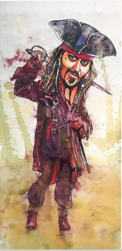 Artwork Jack Sparrow/Johnny Depp