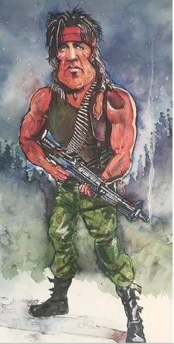 Artwork Rambo / Sly Stallone