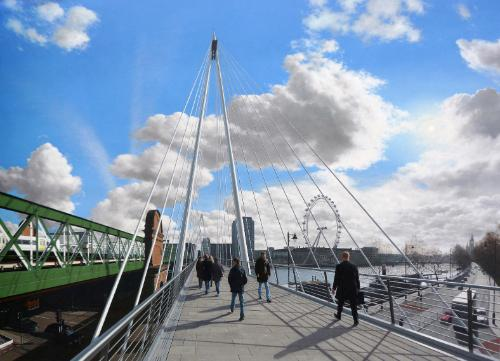 Jubilee Bridge by SteveW1960 - Use the 'Create Similar' button to commission an artist to create your own artwork.