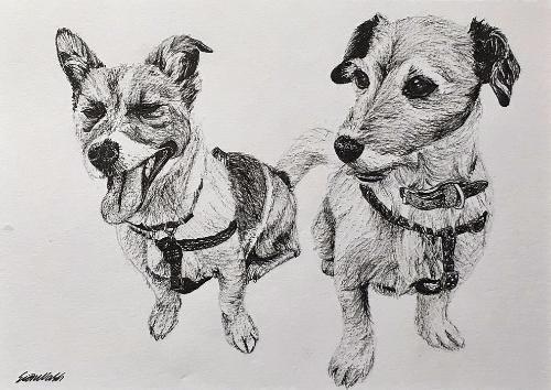 Artwork Lola and Pepper