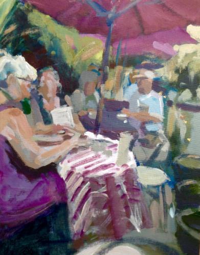 Artwork Cafe scene Bakewell